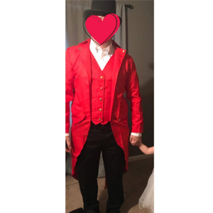 customer's photo,red costume