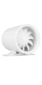 """6"""" Inline Fan Exhaust and Booster Blower With Variable Speed Controller AC Motor Brushless Grow Tent"""