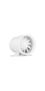 "4"" White Booster Fan 47 CFM"