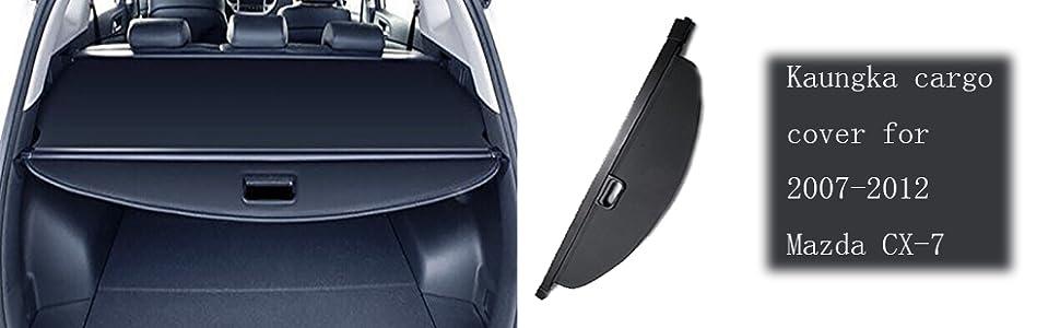Amazon Com Cargo Cover For 2007 2012 Mazda Cx 7 Trunk Shielding Shade By Kaungka Black Home Improvement