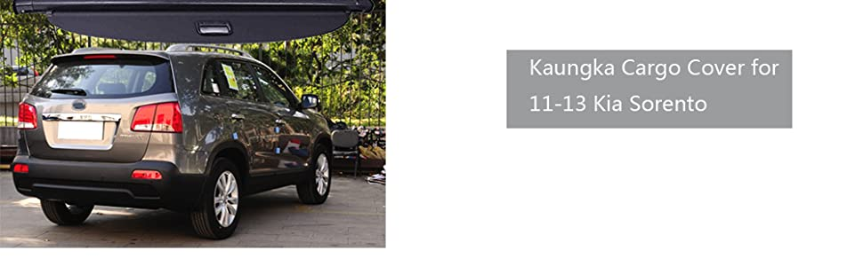 Amazon Com Tonneau Cargo Cover For 11 13 Kia Sorento Black Trunk
