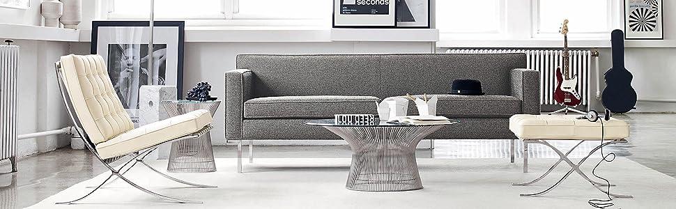 Amazon.com: MLF acento Archibald Lounge brazo silla tapizada ...