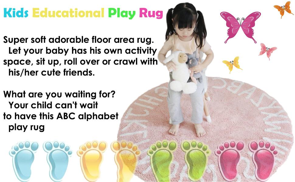abc alphabet kids crawling play mat
