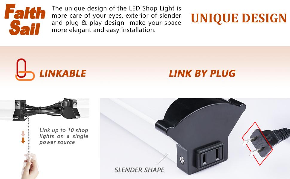 3 LED Shop Lights Maxlite Daylight 5000k 4100L 110W Replacement Basement Office