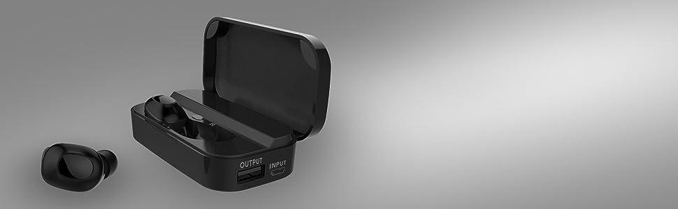 TWS True wireless stereo headphones 2600 mah case