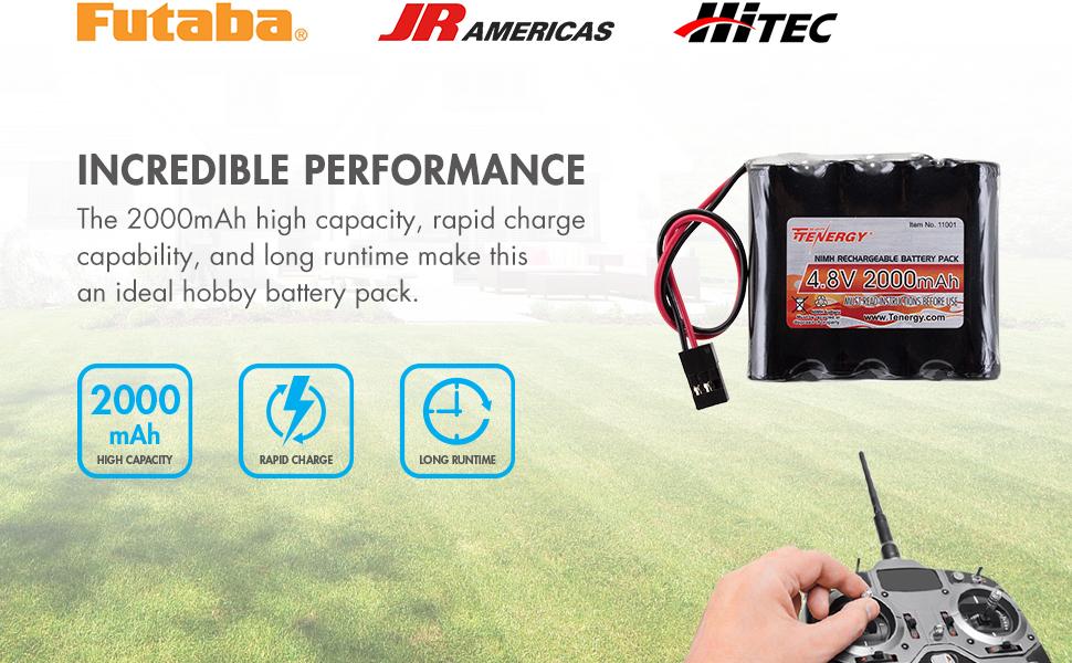Amazon.com: Paquete de baterías RX NiMH Tenergy para ...