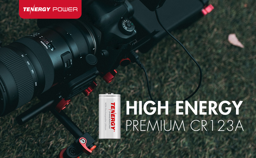 High energy premium cr123a batteries for camera flash
