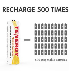 Recharges 500 times