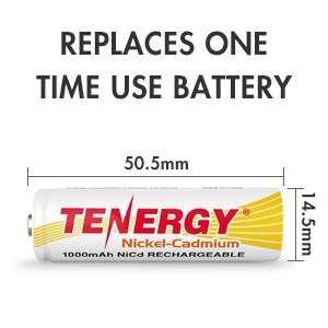 Replaces one time use battery