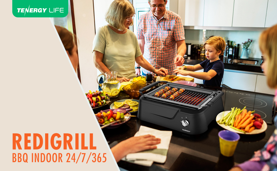 Amazon Com Tenergy Redigrill Smoke Less Infrared Grill