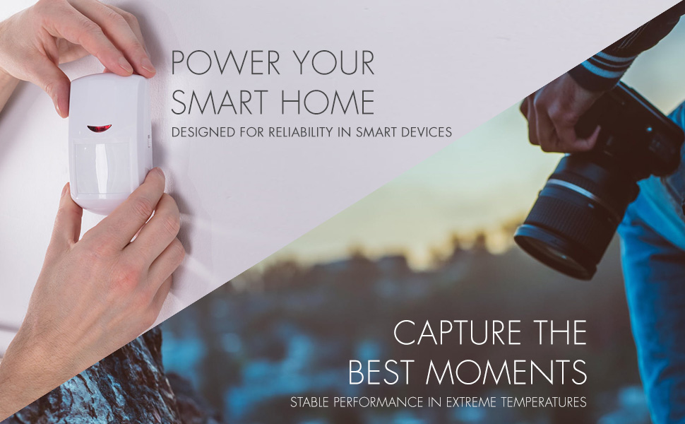Power your smart home or capture the best moments with these high power batteries