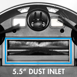 Large 5.5'' dust inlet to collect more debris