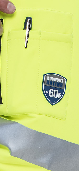 refrigiwear 0796R High Visibility Extreme Softshell Jacket comfort rating