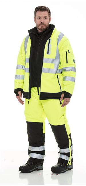 refrigiwear 0797R high visibility Extreme Softshell Bib Overalls