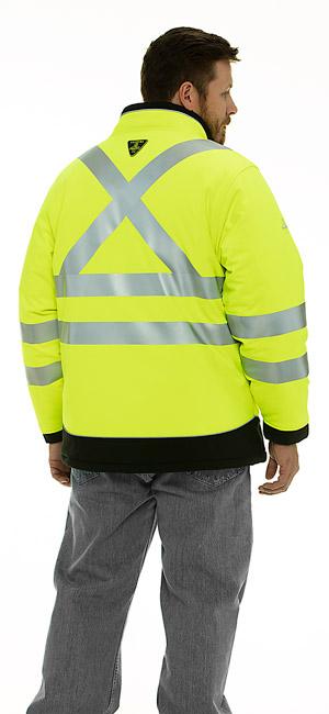 refrigiwear 0796R Hivis Extreme Softshell Jacket reflective tape ANSI Class 3