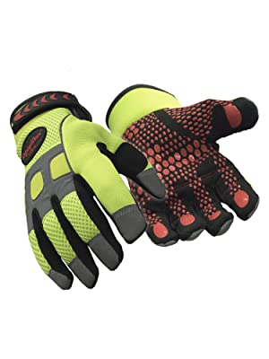 RefrigiWear Mens Thinsulate Insulated HiVis Impact Protection Gloves