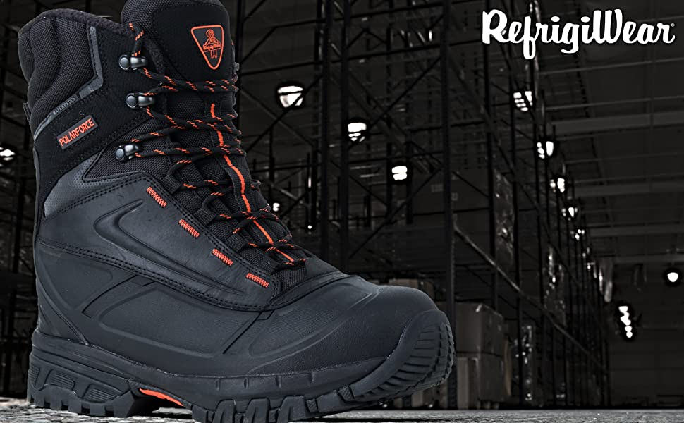 23502e9352b RefrigiWear Men's PolarForce Max Waterproof Insulated 8-Inch Leather Work  Boots