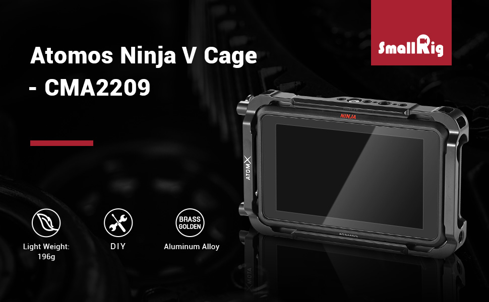 Amazon.com : SMALLRIG Monitor Cage for Atomos Ninja V, Built ...