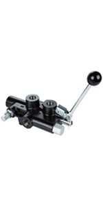 """25 GPM Hydraulic Log Splitter Directional Control Valve with Auto Return Detent 1/2"""" Work Ports"""