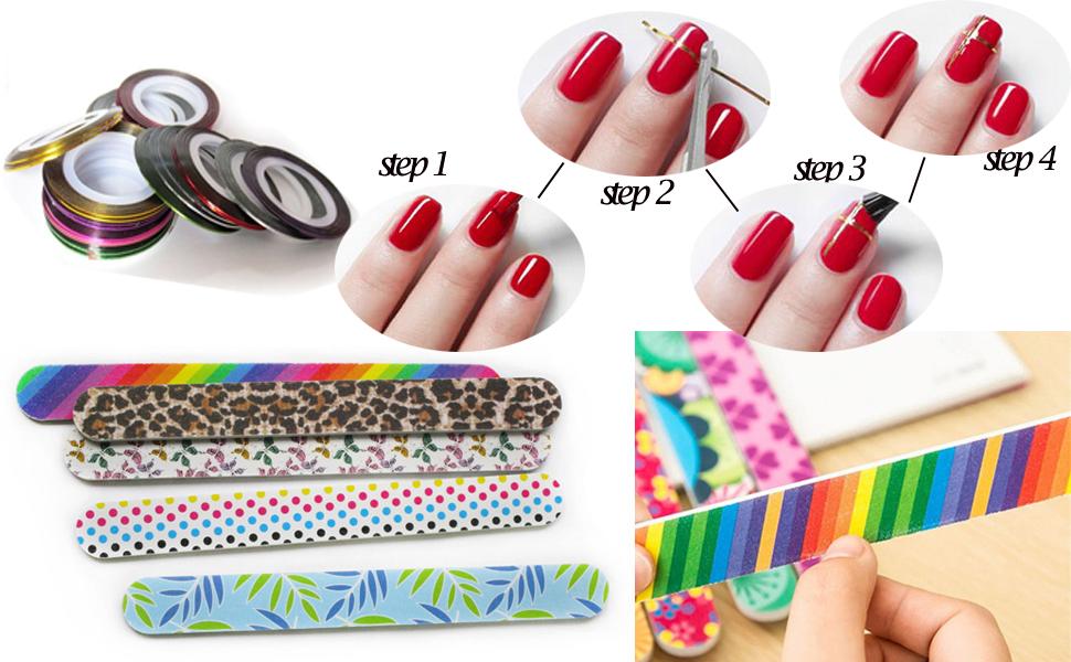 Nail Art Tools Manicure Kit 15PCS Nail Painting Brush 5PCS Nail Dotting Pen  2 Boxes Nails Rhinestones