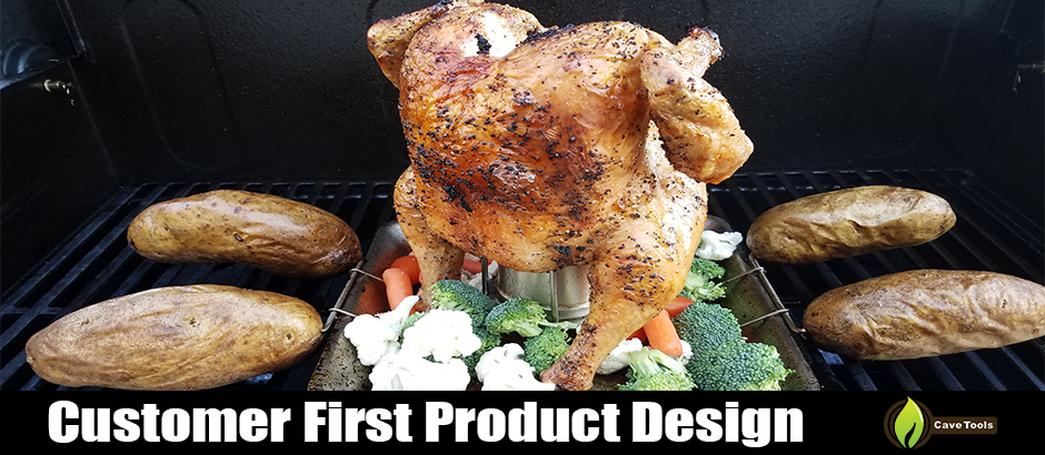 Amazon cave tools beer can chicken roaster rack includes 4 the design process behind your beer can chicken grilling rack fandeluxe Image collections