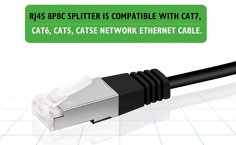 ethernet cable splitter 1 male to 2 female