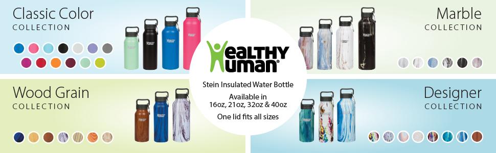 all healthy human stein water bottles