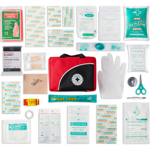 First Aid Kit - 150 Piece - for Car, Travel, Camping, Home, Office, Sports,  Survival | Complete
