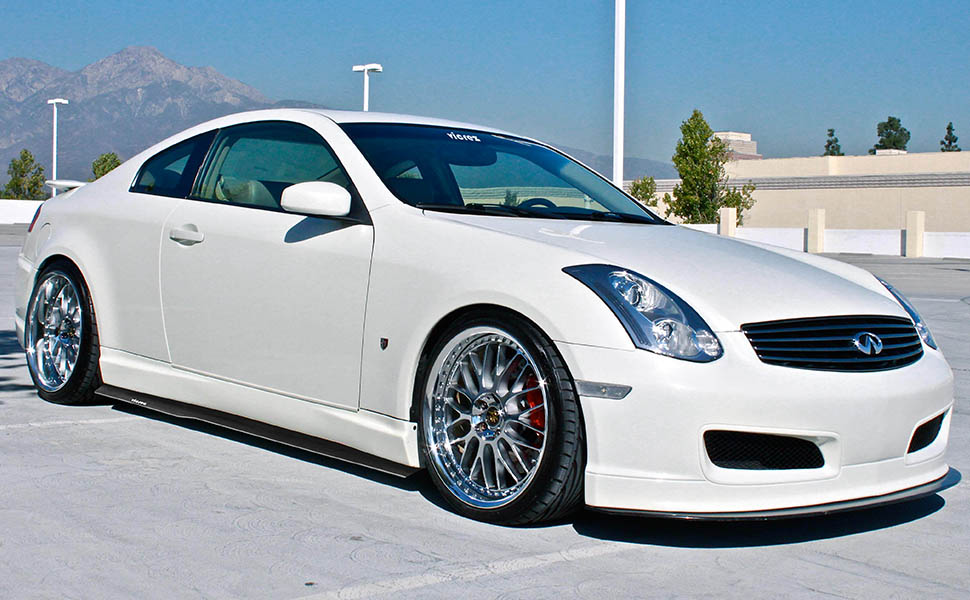vicrez infiniti g35 coupe 2003 2007 side skirt. Black Bedroom Furniture Sets. Home Design Ideas