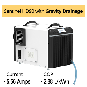 sentinel HD90 with gravity drainage
