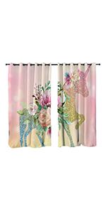 Unicorn window curtain