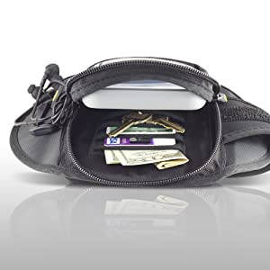 Large Capacity Storage Pocket Keys 4 Card Slots Compatible w//Otterbox Type Cases Galaxy S7 /& More Gear Beast GearWallet Galaxy S8 Sports Armband for Running Earbuds Also fits iPhone Cash