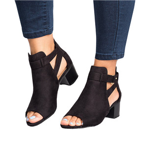 899425a236a Amazon.com  Fashare Womens Open Toe Cut Out Sandals Chunky Stacked ...