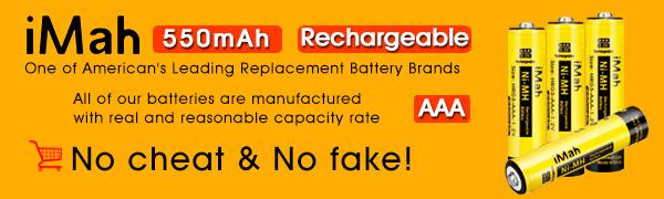 AAA Rechargeable Batteries 1.2V Ni-MH Panasonic Cordless Phone Battery HHR-55AAABU HHR-75AAA/B
