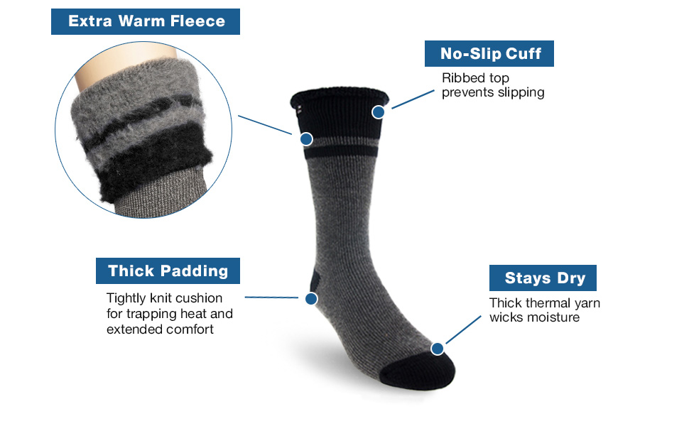 wool thick warm soft work boot socks winter cold arctic extreme