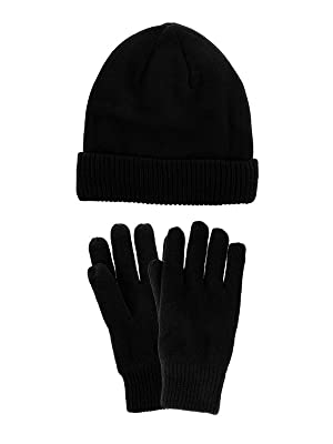 c5c7647996a DG Hill Mens Winter Hat And Gloves Set with 3M Thinsulate fleece ...