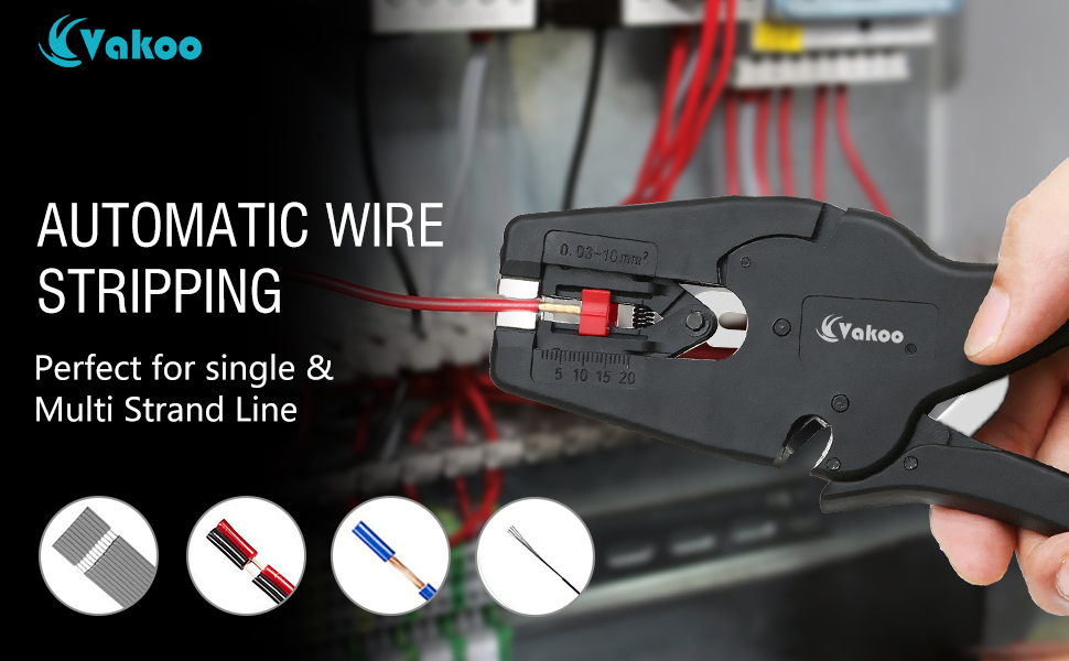 VAKOO Wire Stripper and Cutter, Automatic Insulation Wire Stripping ...