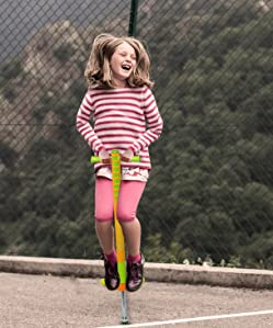 Features NEW Rubber Grip Handles Flybar Limited Edition Foam Maverick Pogo Stick for Boys /& Girls Indoor//Outdoor Toy for Kids Ages 5-9 Blue//Lime, 1 Pack Non-Slip Foot Pegs for Safety -