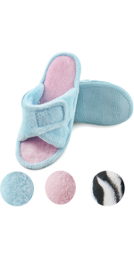 women adjustable home indoor slippers open toe open back