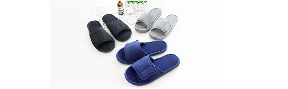adjustable slippers for men