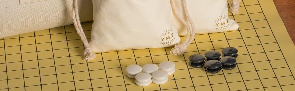 ymi portable go stones and board