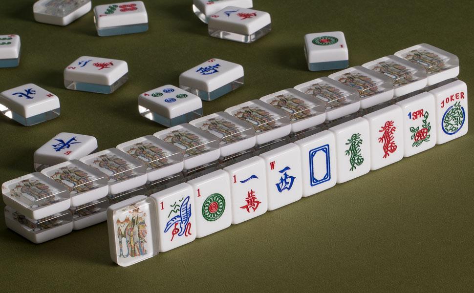 Amazon.com: American Mahjong Azulejos, Conjunto de 166 ...