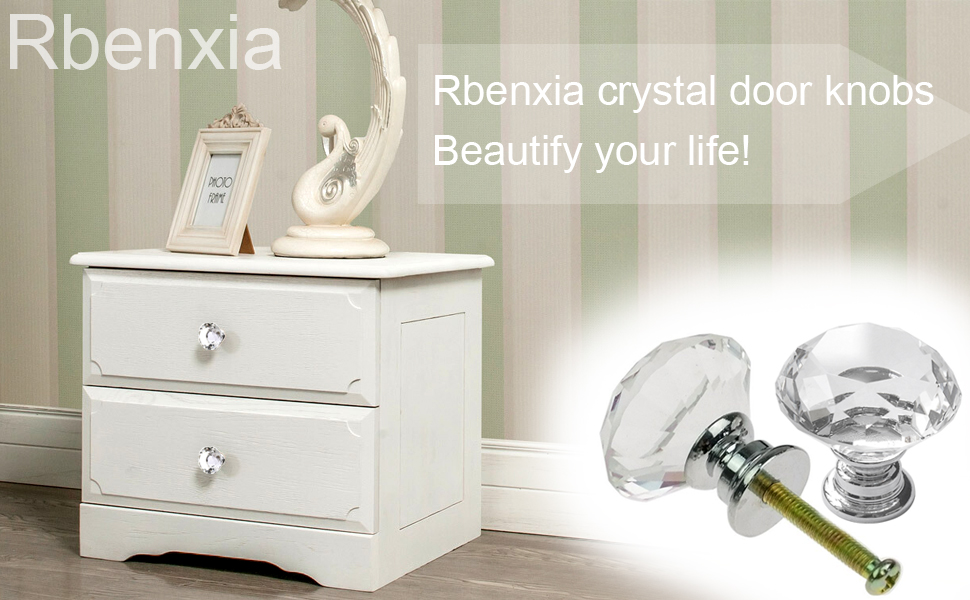 Are You A Perfectionist That Love All Beautiful Things? Come To Buy Our  Rbenxia 30mm Crystal Cabinet Knob 10pcs Cupboard Drawer Glass Pull ...