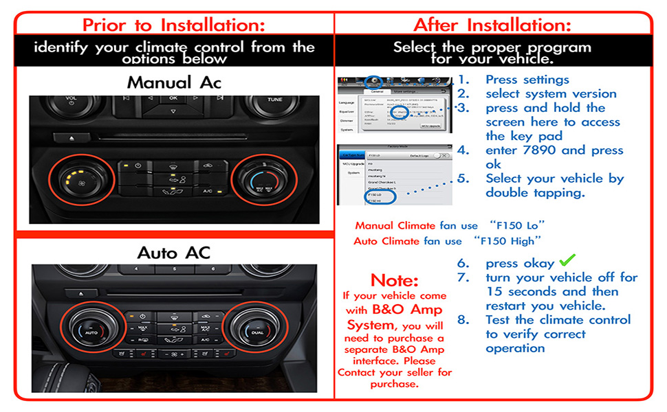 LinksWell T-Style Head Unit Car Stereo Radio Fit for Ford 2015-2019  F150,2017-2019 F250/F350/F450 GPS Navigation 12 1 Inch Touch Screen in Dash  GEN-1