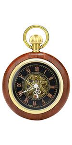 Wooden Retro Pocket Watch
