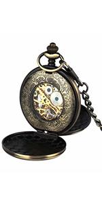 Antique Double Hunter Mechanical Pocket Watch