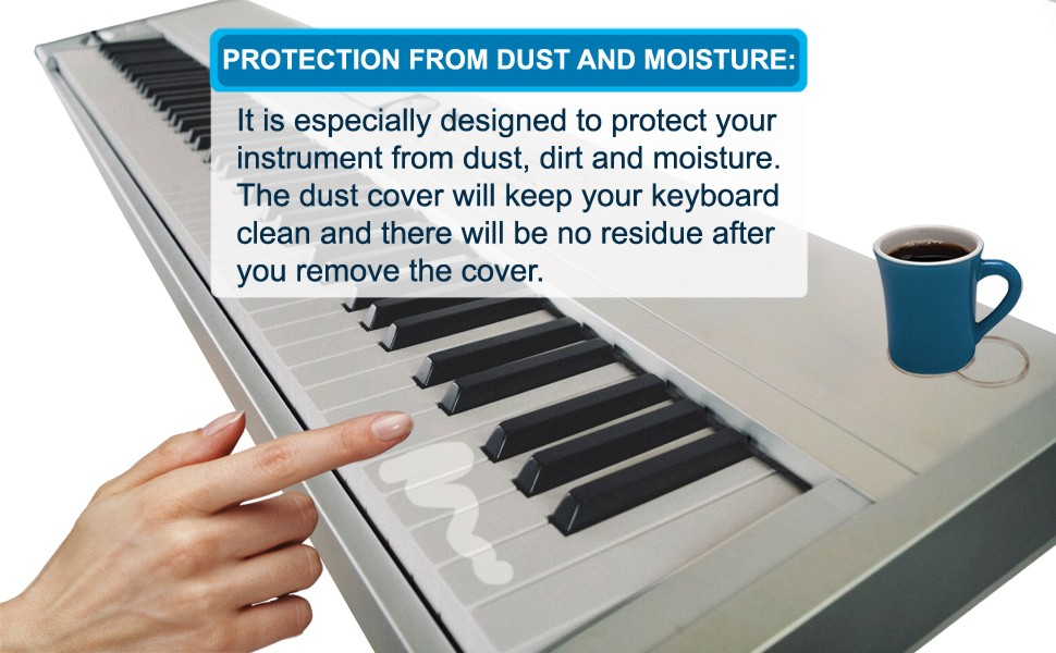 HQRP Elastic Dust Cover w//Bag for Yamaha DGX-220 DGX305 Electronic Keyboard Digital Piano DGX220 DGX-230AD DGX-305 HQRP Coaster DGX230AD