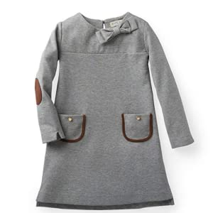 Hope & Henry Girls' Long Sleeve Quilted Ponte Riding Dress