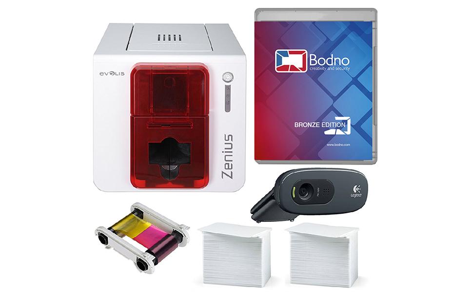 Amazon.com: Evolis Zenius Single Sided Impresora de tarjetas ...