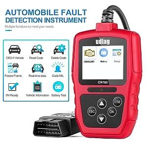 udiag Obd2 Scanner Car Code Reader Car Diagnostic Tool with Reset Scanner  for Cars Engine Error Codes Reader Check Vehicle Health Automotive Tools